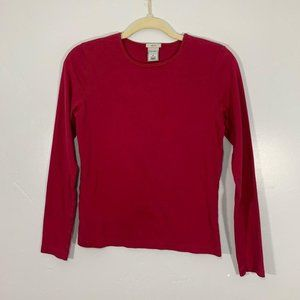 Vintage 90's Old Navy Red Round Neck Long Sleeve